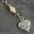 Beaded ''Mother'' Bookmark, Freshwater Pearls, Glass, Antique Silver Finish