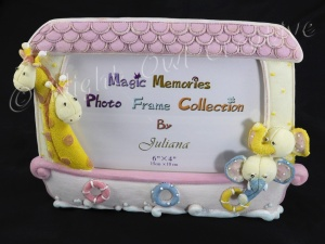 Noah's Ark Photo Frame - Magic Memories Juliana - Pink
