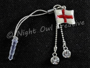 England Flag of St George Mobile Phone Charm for Smartphone, iPhone, Samsung, HTC etc