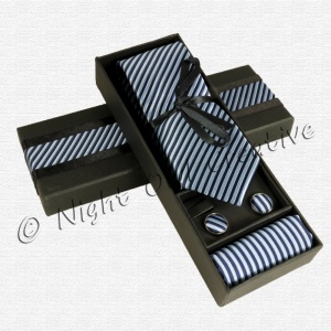 Gents Tie Gift Set Blue/Navy