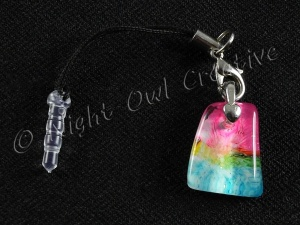 Glassy Pebble Multicolour Mobile Phone Charm for Smartphone, iPhone, Samsung, HTC etc