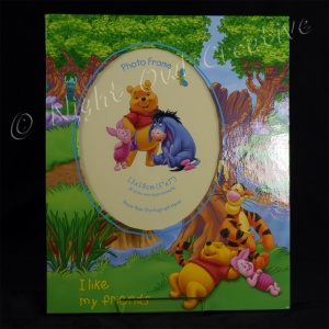 Pooh Bear Photo Frame - I Like My Friends - Chilling