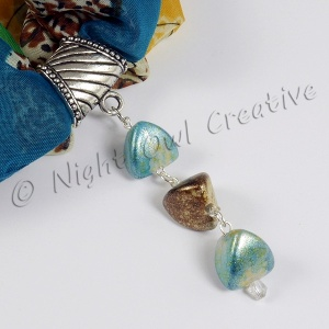 Silk Blend Chiffon Scarf Set with Limited Edition Handcrafted Slider Pendant