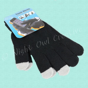Touch-Screen Gloves - Unisex One Size Black