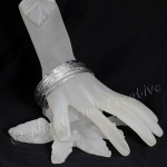 Elegant Bangle Set Polished Silver Tone