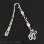 Personalised ''60'' Bookmark, Glass Beads & Freshwater Pearls, Choice of Initial