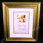 Classic Photo Frame - Antiqued Gold Finish 8 x 6