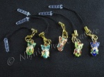 Cloisonne Owl Mobile Phone Charm for Smartphone, iPhone, Samsung, HTC etc