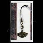 Elegant Fan Mobile Phone Charm for Smartphone, iPhone, Samsung, HTC etc