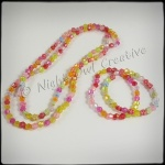 Girls Beaded Necklace & Bangles Mix & Match Set