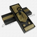 Gents Tie Gift Set Gold/Black
