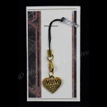 ''MUM'' Goldtone Mobile Phone Charm for Smartphone, iPhone, Samsung, HTC etc
