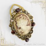 Multiway Scarf Ring, Clip, Vintage Style Cameo, Pendant Necklace, Brooch