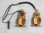 Wooden Owl Handcrafted Mobile Phone Charms