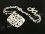 Silver Tone Filigree Pendant Necklace