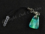 Glassy Pebble Turquoise Mobile Phone Charm for Smartphone, iPhone, Samsung, HTC etc